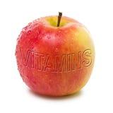Appel met vitaminen Stock Afbeelding