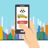 Appel mobile pour rouler au sol le service Images libres de droits