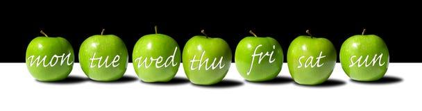 Appel Per dag (van de Week) Royalty-vrije Stock Afbeelding