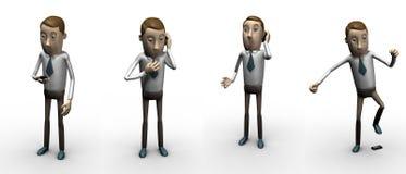 Appel. personnalité 3d. Image stock