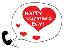 Appel pour dire le jour heureux de Valentine Photo stock
