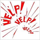 Appel pour l'aide Image libre de droits