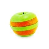 Appel + Sinaasappel Royalty-vrije Stock Afbeeldingen