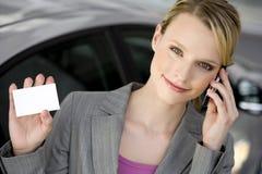 Appel téléphonique de femme Image stock