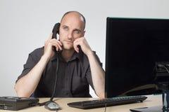 Appel téléphonique ennuyeux Images libres de droits