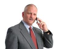 Appel téléphonique sérieux photo libre de droits
