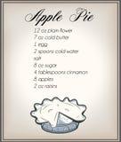 Appel-Tortenrezept Stockbild