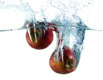 Appel in water Royalty-vrije Stock Afbeelding