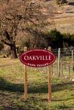 Appelation d'AVA d'Oakville Photo libre de droits