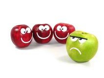 Appelen -appel-smilies 2 Stock Afbeeldingen