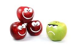 Appelen -appel-smilies Stock Afbeeldingen