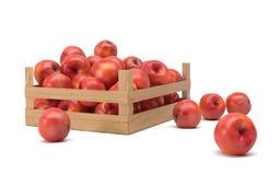 Appelen in een doos Stock Afbeeldingen