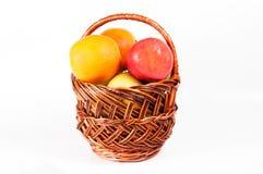 Appelen in een mand Stock Foto