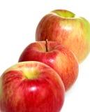 Appelen in een rij Stock Foto's