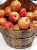 Appelen in een vat royalty-vrije stock afbeeldingen