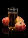 Appelen en appelsap Stock Afbeelding