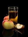 Appelen en appelsap Stock Foto