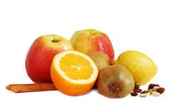 Appelen en citroen Royalty-vrije Stock Afbeeldingen
