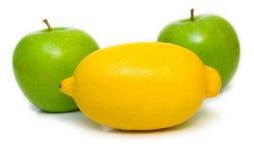 Appelen en citroen Stock Foto