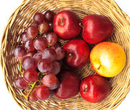 Appelen en druiven Royalty-vrije Stock Foto