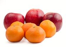 Appelen en mandarijnen royalty-vrije stock foto's