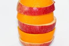 Appelen en oranje fruit Royalty-vrije Stock Afbeeldingen