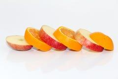 Appelen en oranje fruit Royalty-vrije Stock Afbeelding