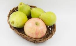 Appelen en peren Stock Afbeelding