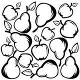 Appelen en peren Stock Foto