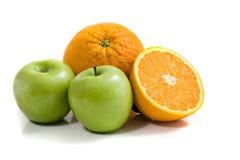 Appelen en sinaasappelen Royalty-vrije Stock Afbeelding