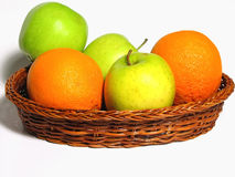 Appelen en Sinaasappelen Stock Afbeeldingen