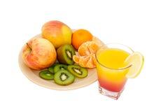 Appelen, kiwi, mandarijnen Stock Afbeelding