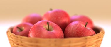 Appelen in mand Stock Fotografie