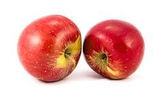 Appelen op een witte achtergrond worden geïsoleerd die Smakelijk en gezond fruit Royalty-vrije Stock Foto's