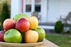 Appelen thuis stock afbeeldingen