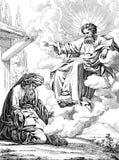 Appeler d'Abraham à la terre de Canaan illustration de vecteur