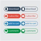 Appelez l'action bouton plat Image stock