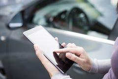 Appelez l'assurance auto Photo libre de droits