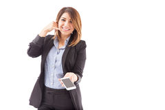 Appelez-nous maintenant de votre smartphone Photo stock