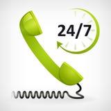 Appelez-nous pendant vingt-quatre heures Photos stock