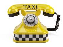 Appelez un concept de service de taxi Image libre de droits