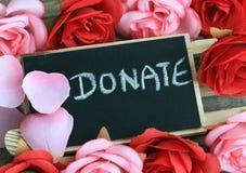 Appell för donation royaltyfri bild