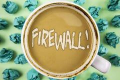 Appell för Firewall för ordhandstiltext Motivational Affärsidéen för Malware skydd förhindrar internetbedrägerier som är skriftli arkivbilder