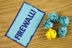Appell för Firewall för ordhandstiltext Motivational Affärsidéen för Malware skydd förhindrar internetbedrägerier som är skriftli fotografering för bildbyråer
