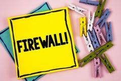 Appell för Firewall för textteckenvisning Motivational Begreppsmässigt fotoMalware skydd förhindrar internetbedrägerier som är sk royaltyfria foton
