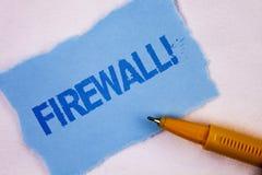 Appell för Firewall för textteckenvisning Motivational Begreppsmässigt fotoMalware skydd förhindrar internetbedrägerier som är sk royaltyfri bild