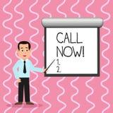 Appell f?r textteckenvisning nu Begreppsmässigt foto att meddela för att proklamera eller förklara det att fråga någon att hålla  vektor illustrationer