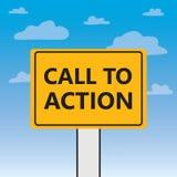 Appell till handling som är skriftlig på en affischtavla stock illustrationer
