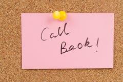 Appell tillbaka Fotografering för Bildbyråer