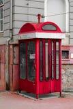 Appellask - röd telefonask Royaltyfri Foto